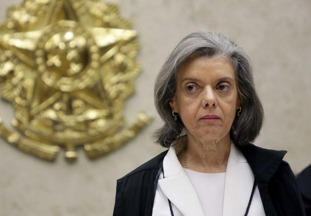 A presidente do STF, ministra Cármen Lúcia, durante sessão (Foto: Fellipe Sampaio/SCO/STF)