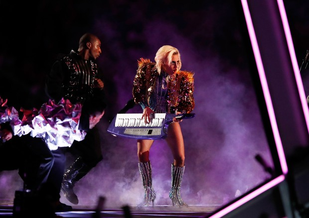 Lady Gaga no Super Bowl (Foto: Getty Images)