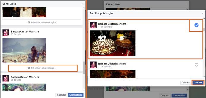 Altere fotos e publicações específicas no seu vídeo (Foto: Reprodução/Barbara Mannara)