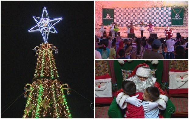 Chegada do Papai Noel em Itacoatiara e em Manaus, e Mundo Encantado no Studio 5 agitam programação de Natal no Amazonas (Foto: Bom Dia Amazônia)