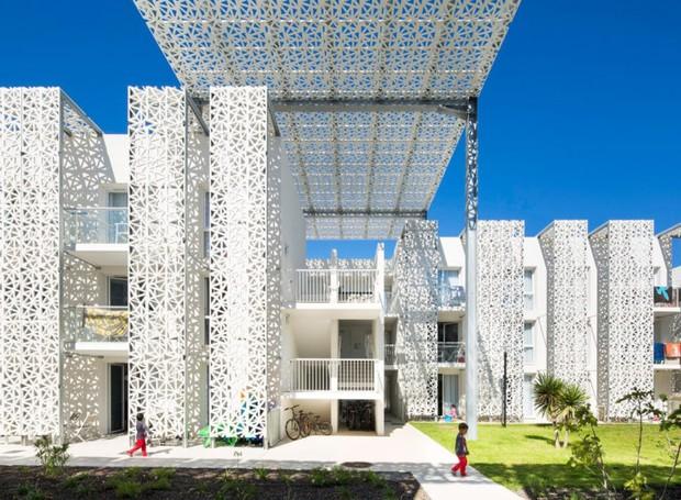 predios-modernos-com-fachadas-incriveis-nakara-residential-hotel-frança (Foto: Reprodução)