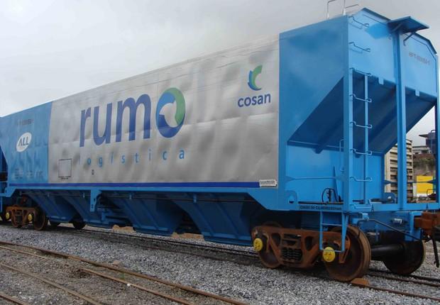 Trem de carga da Rumo Logística (Foto: Divulgação)