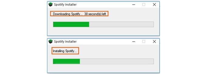 Aguarde a finalização do processo de reinstalação do Spotify no PC (Foto: Reprodução/Barbara Mannara)