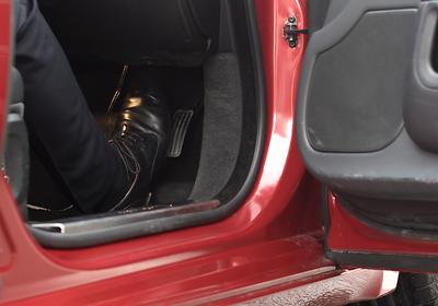 Pedal com sistema responsivo criado pela Jaguar Land Rover (Foto: Jaguar Land Rover)