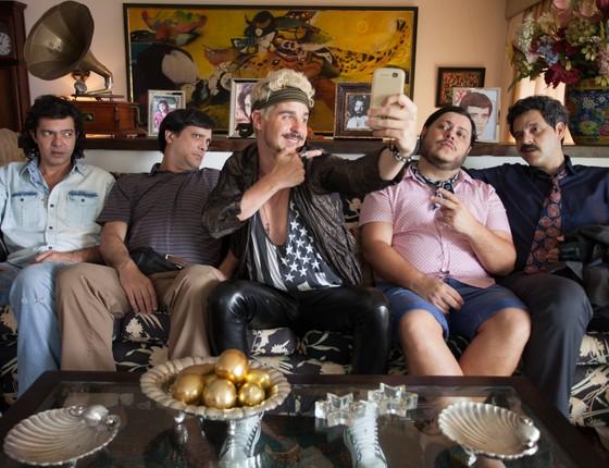 Bruno Mazzeo, Lucio Mauro Filho, Pedro Neschling, Marcus Majella e Bruno Garcia estão no elenco do filme (Foto: Barbara Veiga)