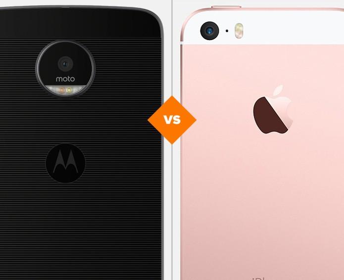 Moto Z e iPhone SE: veja comparativo de ficha técnica (Foto: Arte/TechTudo)