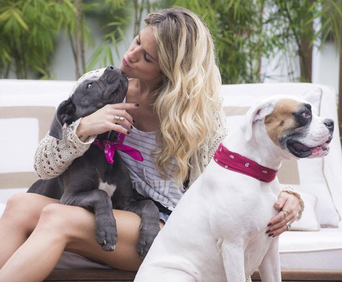 Atriz sempre declarou amor aos seus pets (Foto: Raphael Dias/ Gshow)
