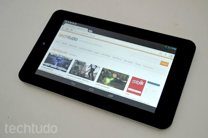 O TechTudo testou o novo tablet portátil da HP (Foto: Thiago Barros/TechTudo)