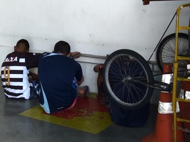 Pm apreendeu três menores acusados de furtos em São Carlos  (Foto: João Furlan/EPTV)