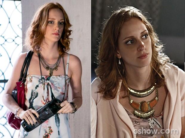 Priscila sempre caprichou na hora de escolher seus colares (Foto: Além do Horizonte/TV Globo)