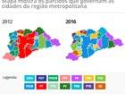 PT perde 'cinturão vermelho' e PSDB conquista 11 prefeituras da Grande SP