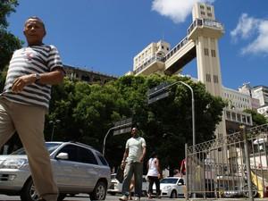 Elevador Lacerda em 2012 (Foto: Egi Santana/G1)