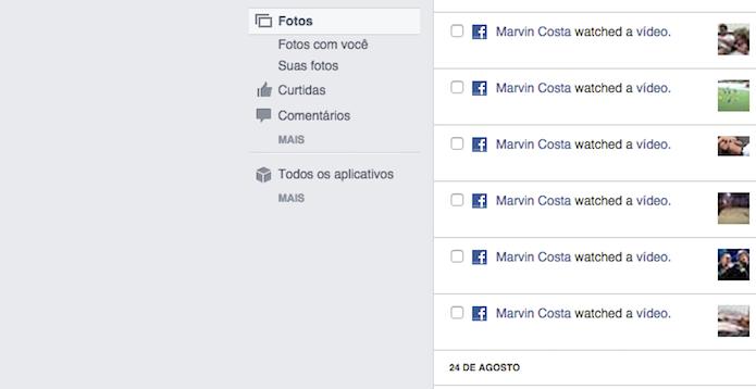 Filtro para fotos e vídeos do Registro de Atividades do Facebook (Foto: Reprodução/Marvin Costa)