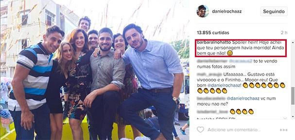Daniel Rocha dá spoiler sobre o fim de seu personagem (Foto: Reprodução/Instagram)