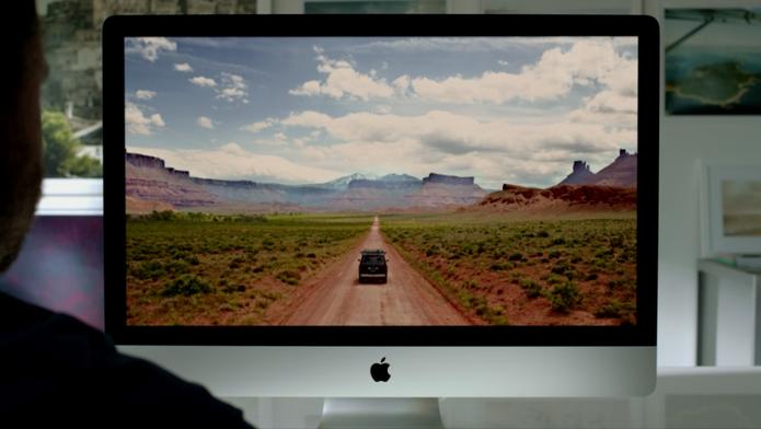O novo modelo do all-in-one da Apple, o iMac (Foto: Reprodução)