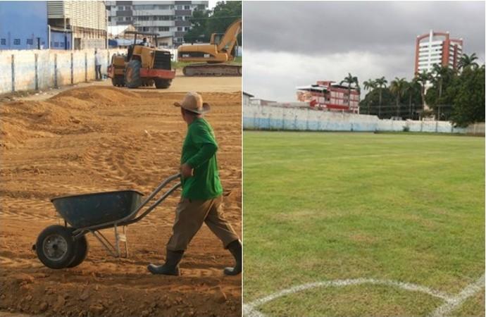 nacional, academia de futebol, manaus, amazonas (Foto: GloboEsporte.com)