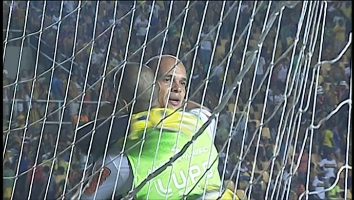 goleiro Fernando Leal América-MG (Foto: Reprodução \Sportv)
