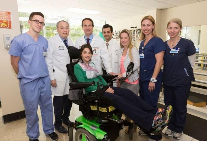 lais souza foto hospital miami  (Foto: Divulgação COB)