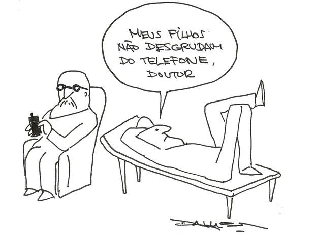 Charges e quadrinhos do cartunista André Dahmer estão disponíveis na exposiçao Goiânia Goiás (Foto: Divulgação/Plus Galeria)