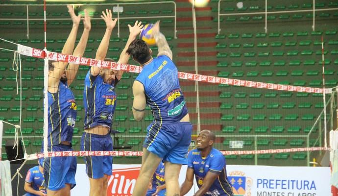 Montes Claros Vôlei treino (Foto: Fredson Souza/Montes Claros Vôlei)