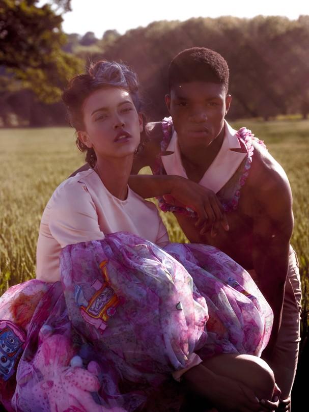 Modelos vestem Kate Clark (esquerda) e J. Crew (direita) (Foto: Eduardo Fuica)