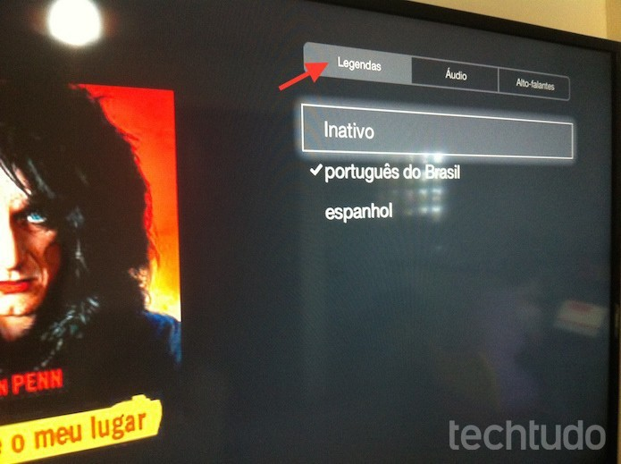 Configurando legendas e o áudio dos títulos do NetFlix na Apple TV (Foto: Marvin Costa/TechTudo)