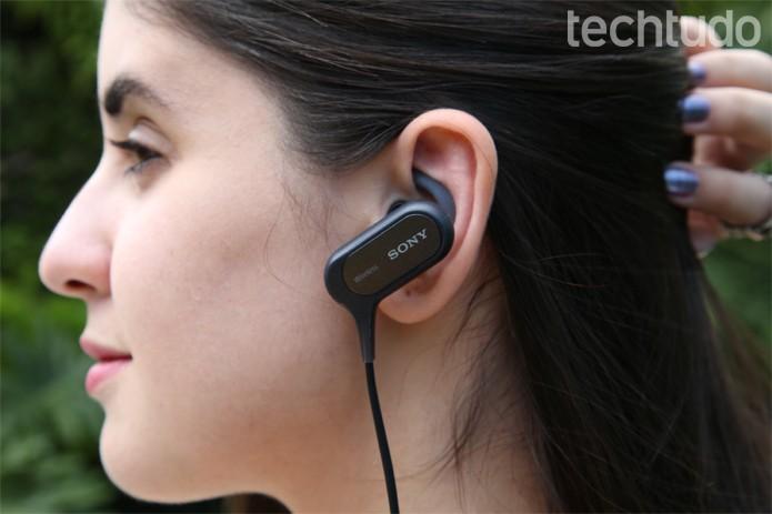 Fone de ouvido Bluetooth e sem fio da Sony (Foto: Ana Marques/TechTudo)