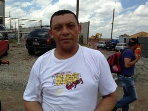 Operário da obra do estádio do Corinthians José Mário da Silva  (Foto: Letícia Macedo/ G1 )