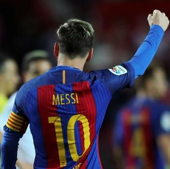 Messi, Sevilla x Barcelona (Foto: REUTERS/ Marcelo del Pozo)