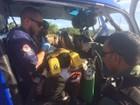 Criança de 3 anos atingida por moto em praia da BA recebe alta de hospital