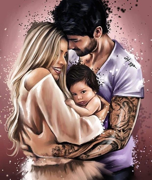 Adriana Sant'Anna e Rodrigo e o filho Rodrigo (Foto: Reprodução/Instagram)