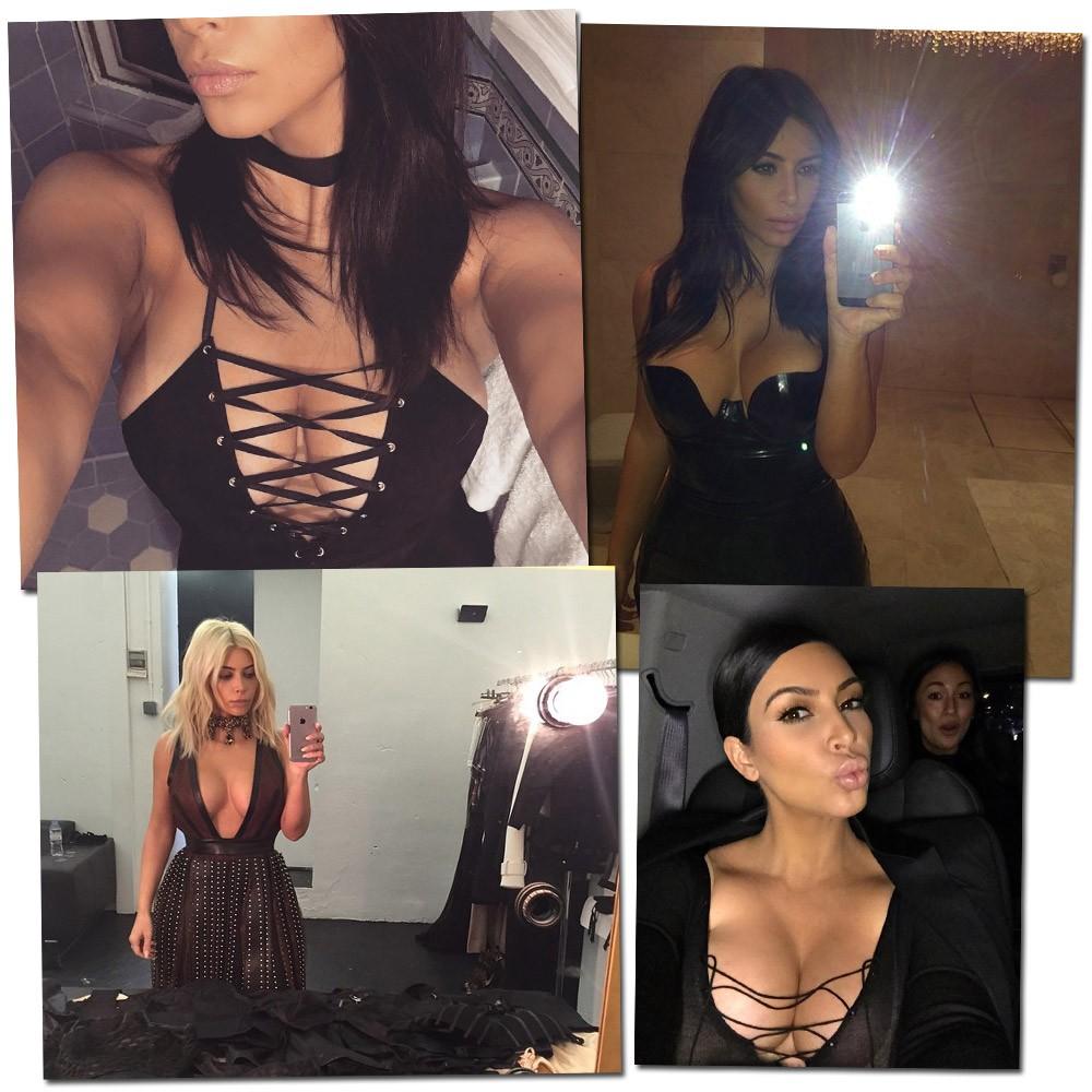 Too sexy: close em uma das partes favoritas de Kim Kardashian na hora da selfie (Foto: Reprodução/Instagram)