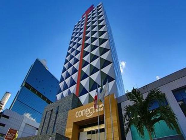 Prédio Connect Smart Hotel, em Salvador (BA) (Foto: Divulgação/Misasi)