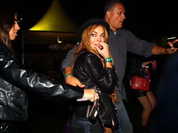 Lindsay Lohan no Lollapalooza (Foto: Iwi Onodera/EGO)