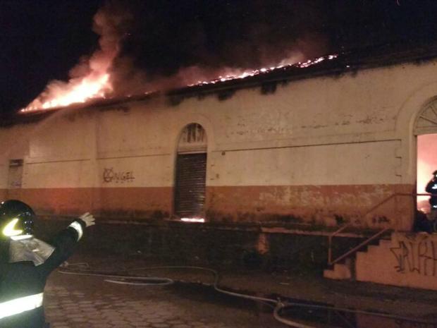 aquidauana incêndio (Foto: Corpo de Bombeiros/ Divulgação)