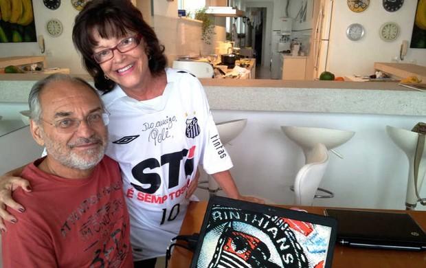 Lídice e Fernando possuem paixão pelos alvinegros desde a década de 60 (Foto: Lincoln Chaves / Globoesporte.com)