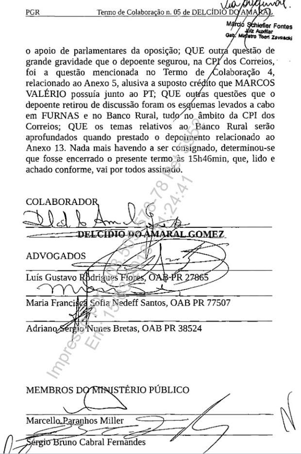 Termo de colaboração assinado por Delcídio pg. 6 620px (Foto: Reprodução)