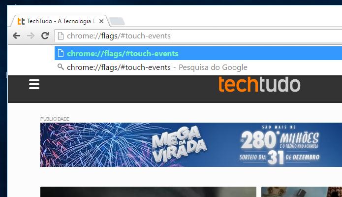 Acesse a página de experimentos do Chrome (Foto: Reprodução/Helito Bijora)