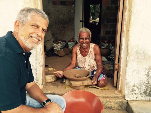 Repórter José Raimundo - Grep sobre a Baía de Todos-os-Santos (Foto: Globo Repórter)