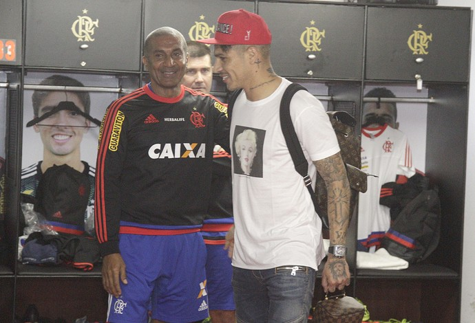 Guerrero e Cristóvão (Foto: Gilvan de Souza / Flamengo)