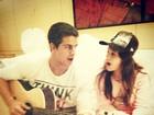 Enzo e Sophia cantam e Edson Celulari afirma: 'Minha dupla preferida'