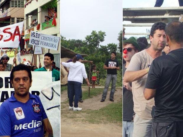 Marcos Mendes em imagens que mostram momentos da trajetória política (Foto: Arquivo pessoal)
