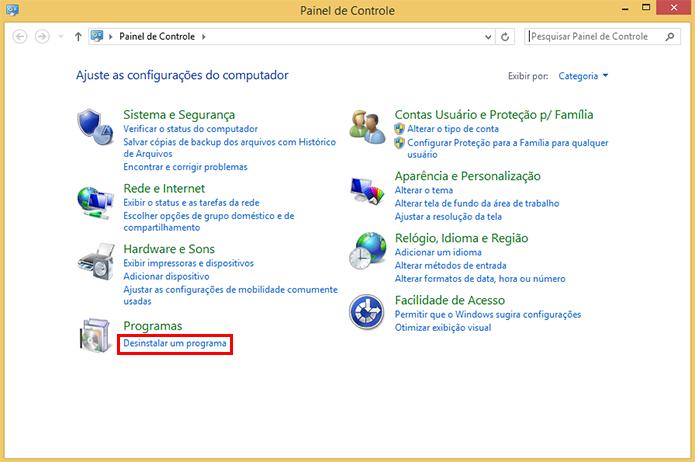 Acesse o menu de desinstalação do Windows (Foto: Reprodução/Paulo Alves)