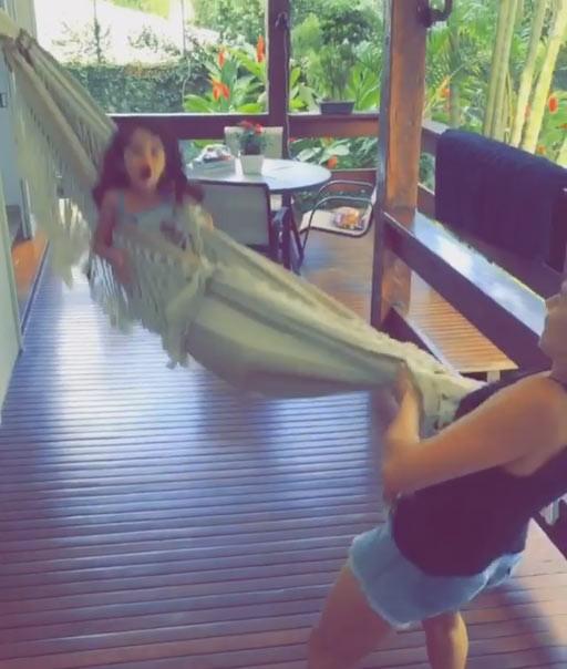 Bianca Rinaldi e seus exercícios (Foto: Reprodução/ Instagram)