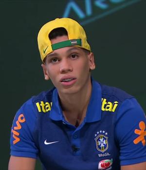 Paulinho, atacante da seleção brasileira sub-17 (Foto: Reprodução SporTV)