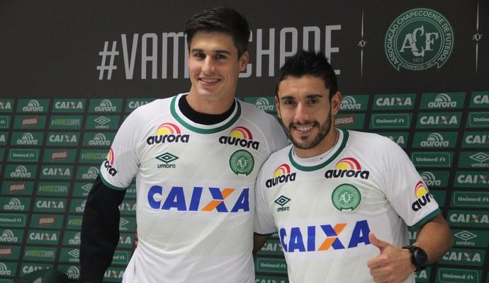 Filipe Machado e Alan Ruschel (Foto: Cleberson Silva/Chapecoense)