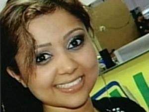 Tatylla Cristina Marçal da Silva, de 24 anos, está desaparecida em Jataí, Goiás (Foto: Reprodução/ TV Anhanguera)