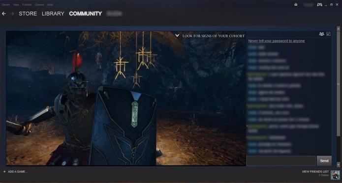 O Steam permite a transmissão de suas partidas diretamente pelo aplicativo (Foto: Reprodução/Cássio Barbosa)