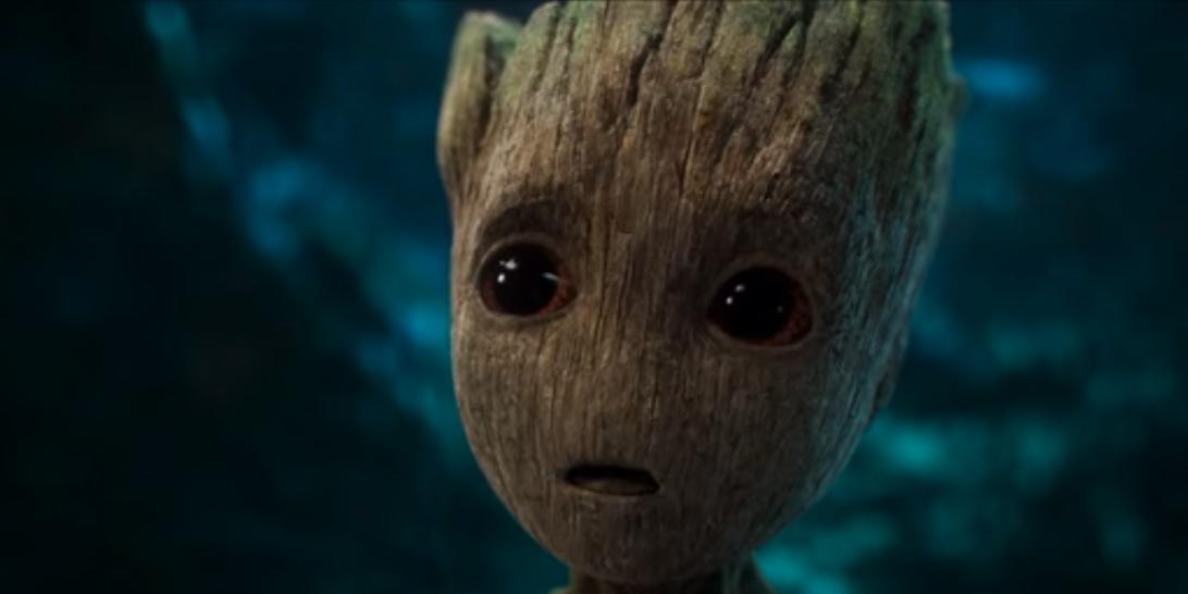 Groot em cena de um dos trailers  (Foto: Divulgao)