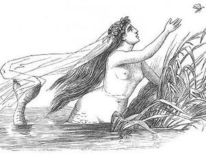 Ilustração para o conto 'A pequena sereia' feita por Vilhelm Pedersen para os primeiros livros de Andersen (Foto: Reprodução/Vilhelm Pedersen )